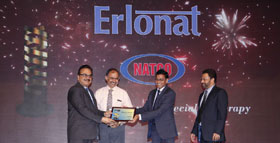 "NATCO received the ""Best Speciality Brand-SILVER AWARD"" for marketing excellence in India, during 2014-15 fiscal year"